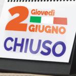 FESTA DELLA REPUBBLICA: BIBLIOTECA CHIUSA GIOVEDI' 2 GIUGNO