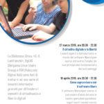 CITTADINANZA DIGITALE E SOFTWARE LIBERO, 2 INCONTRI IN BIBLIO