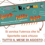 SPORTELLO PUBBLICO DIGITALE: CHIUSO AD AGOSTO