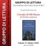 Sabato 17 ottobre nuovo incontro in presenza del nostro Gruppo di Lettura
