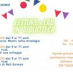 Letture e laboratori per bambini in biblioteca