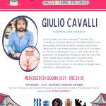 Incontro con l'autore GIULIO CAVALLI, mercoledì 30 giugno alle ore 20.30
